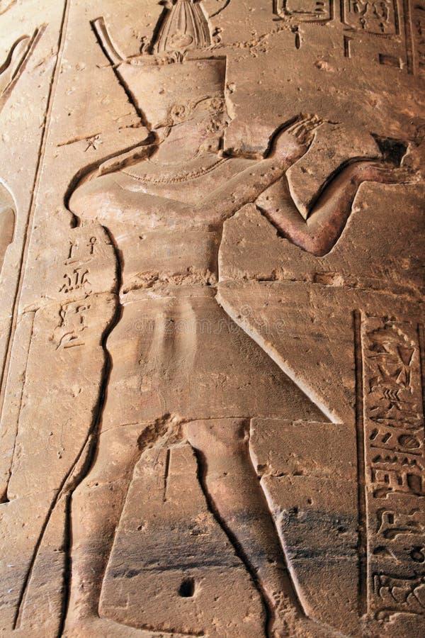 hieroglyphpharaoh royaltyfria foton