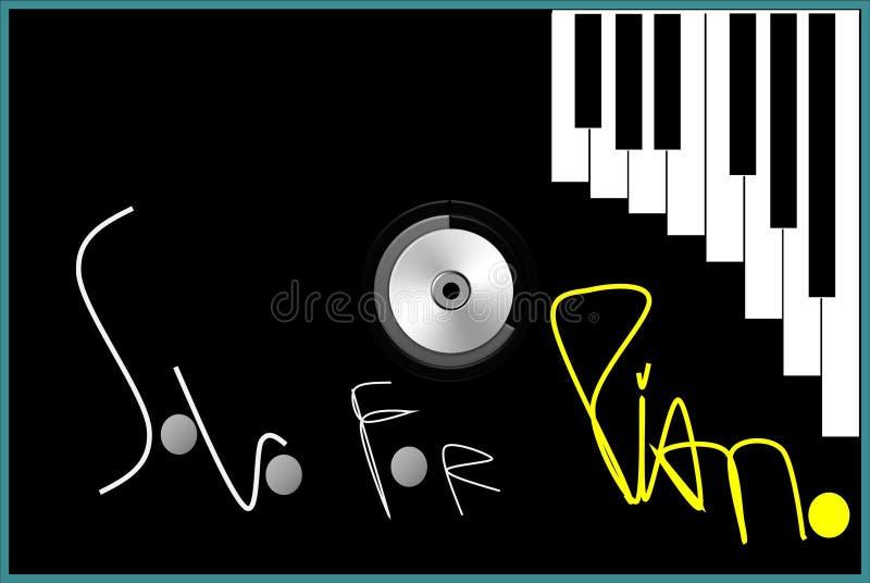 hieroglyphs κάλυψης Cd ηλιοβασίλεμα Σόλο για το πιάνο διανυσματική απεικόνιση