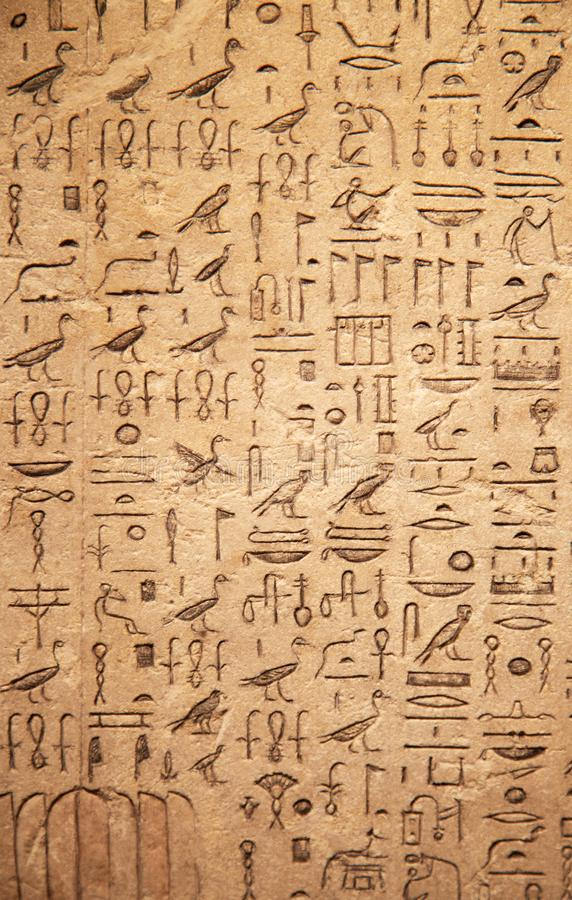 Hieroglyphs στον τοίχο στοκ φωτογραφίες