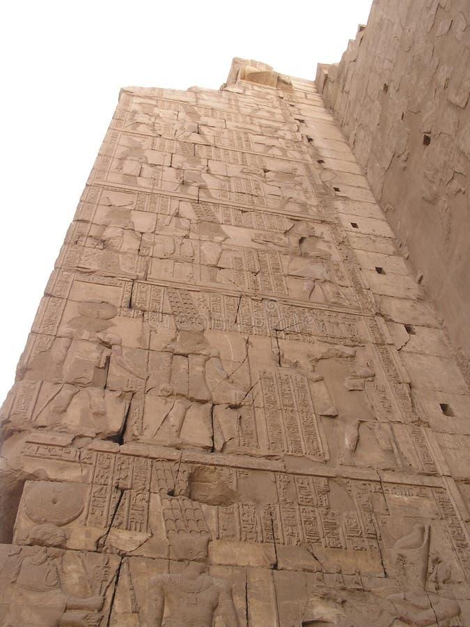 Hieroglyphs 1 on a wall stock photos