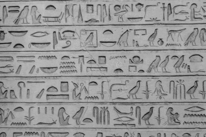 hieroglyphs imagem de stock