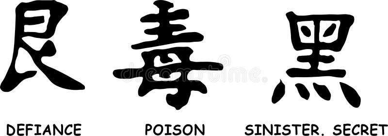 Hieroglyphs japoneses ilustração stock
