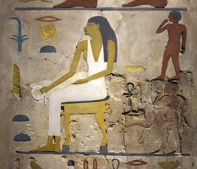hieroglyphstext royaltyfri foto