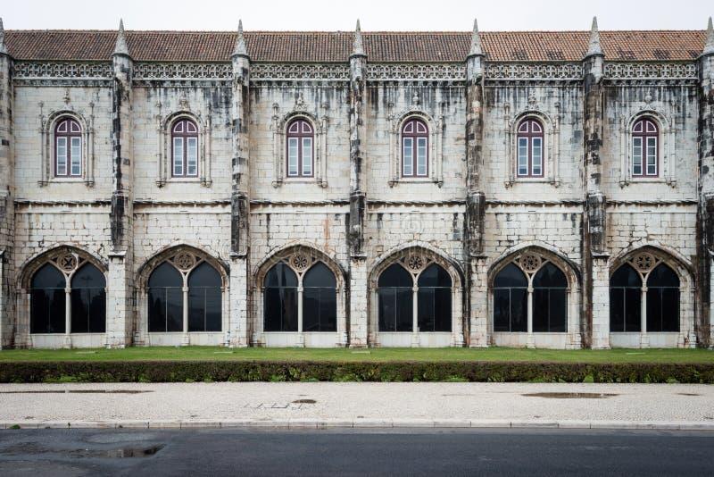 Hieronymitesklooster in Lissabon, Portugal royalty-vrije stock afbeelding