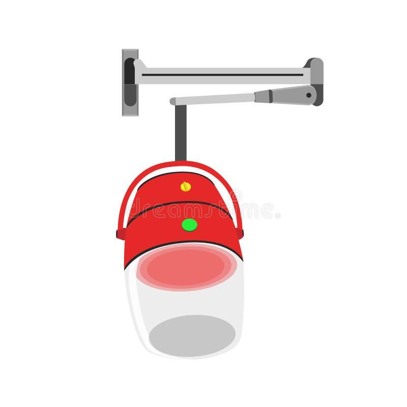 Hierro del secador del icono del vector del vapor del pelo Horno del mezclador de la máquina libre illustration