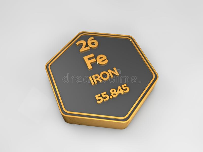Hierro fe forma hexagonal de la tabla peridica del elemento download hierro fe forma hexagonal de la tabla peridica del elemento qumico stock de urtaz Images