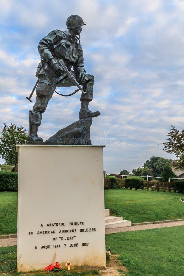 Hierro Mike Statue en Normandía, Francia imagen de archivo libre de regalías