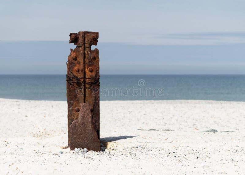 Hierro oxidado en Helgoland fotografía de archivo