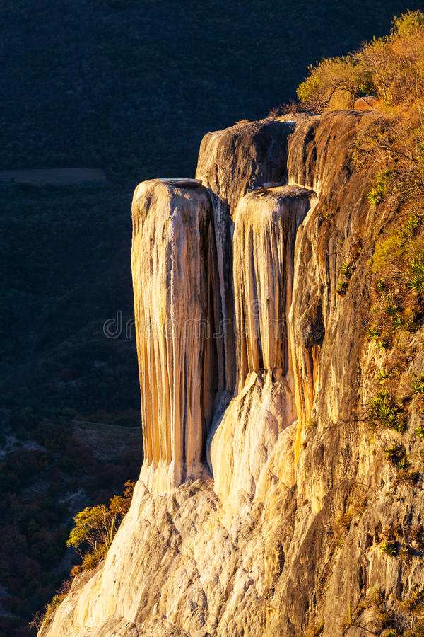 Hierve el Agua. Natural rock formations in the Mexican state of Oaxaca royalty free stock photos