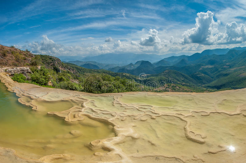 Hierve el Agua, natural rock formations in the Mexican state of. Oaxaca, Mexico royalty free stock images
