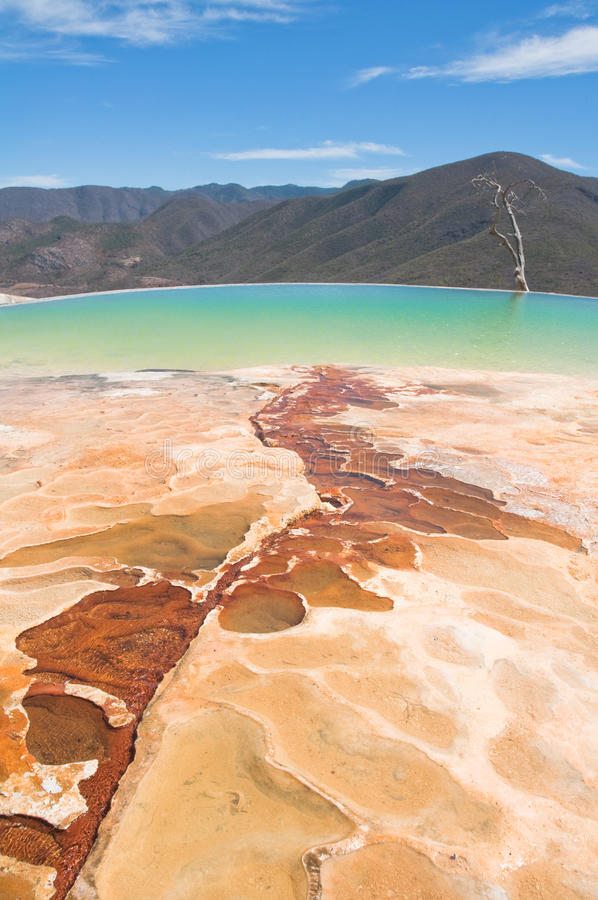 Hierve el Agua, thermal spring in Oaxaca (Mexico). Hierve el Agua, thermal spring in Oaxaca, Mexico royalty free stock photo