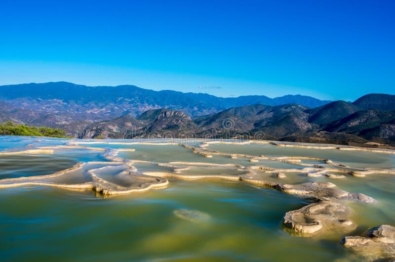 Hierve Gr Agua in de Centrale Valleien van Oaxaca mexico royalty-vrije stock foto's