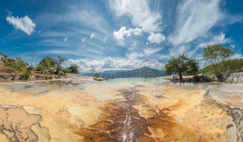 Hierve Gr Agua, natuurlijke rotsvormingen in de Mexicaanse staat van stock afbeeldingen