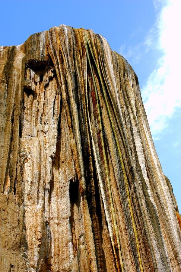 Hierve Gr Agua, Van angst verstijfde Waterval in Oaxaca I stock afbeeldingen