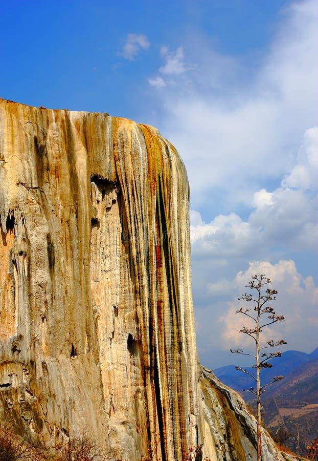 Hierve Gr Agua, Van angst verstijfde Waterval in Oaxaca III stock afbeelding