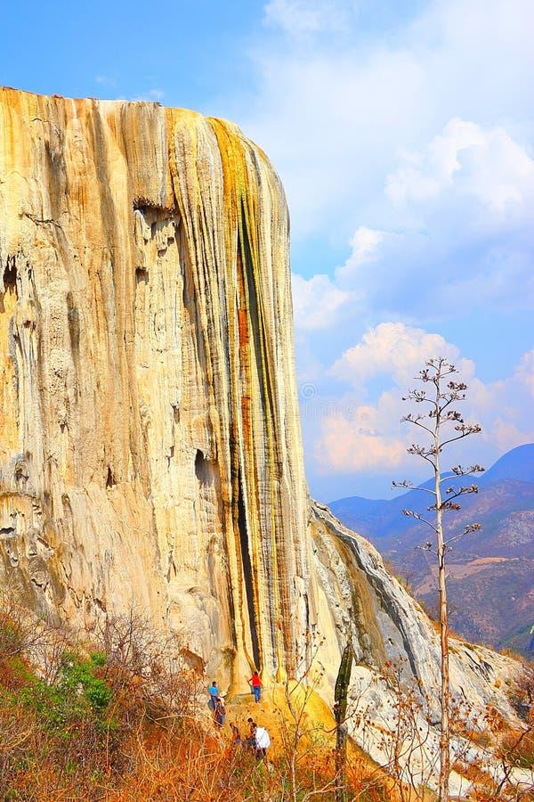 Hierve Gr Agua, Van angst verstijfde Waterval in Oaxaca VI royalty-vrije stock afbeeldingen