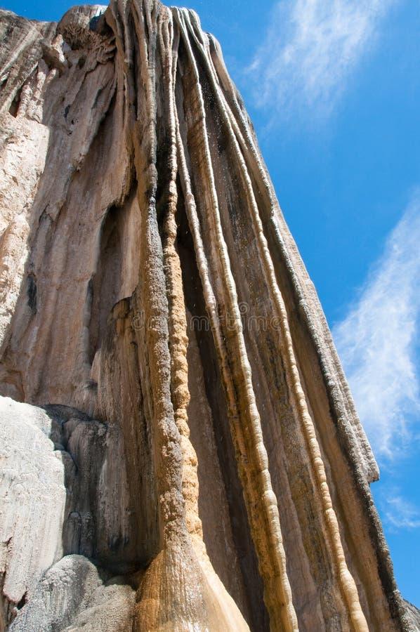 Hierve Gr Agua, Verstijfde van angst Waterval in Mexico royalty-vrije stock afbeelding
