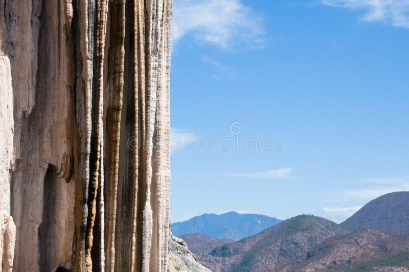 Hierve Gr Agua, Verstijfde van angst Waterval in Mexico royalty-vrije stock fotografie