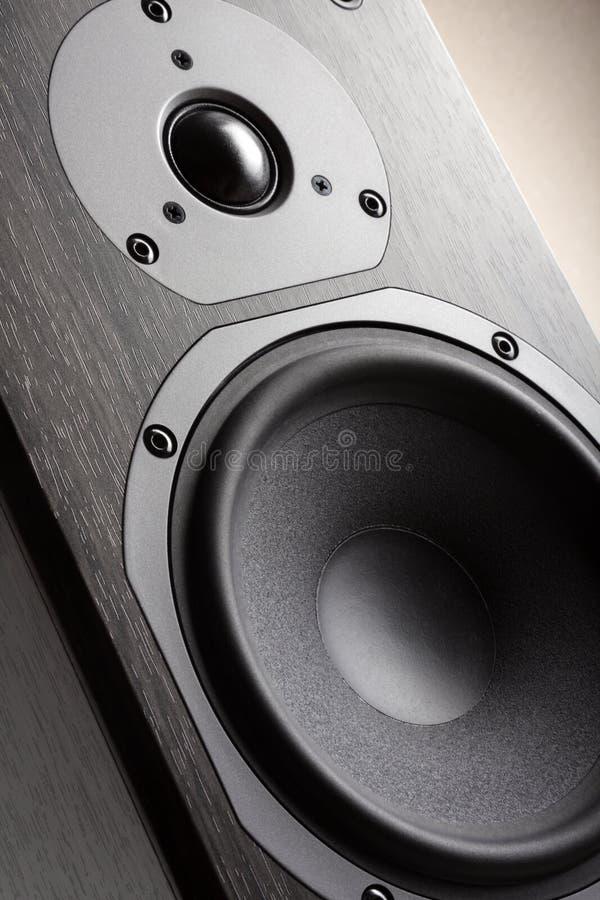 Hifi akustische Systems-Nahaufnahme lizenzfreie stockfotos
