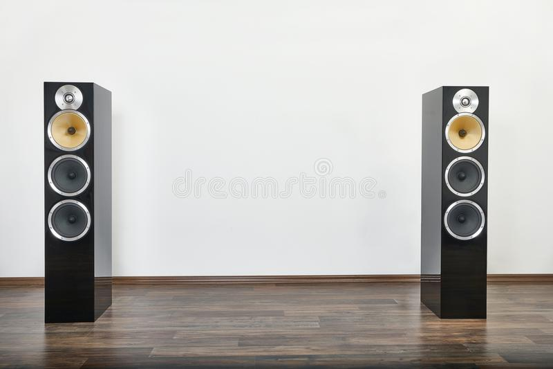 Hifi- högtalarepar royaltyfri bild