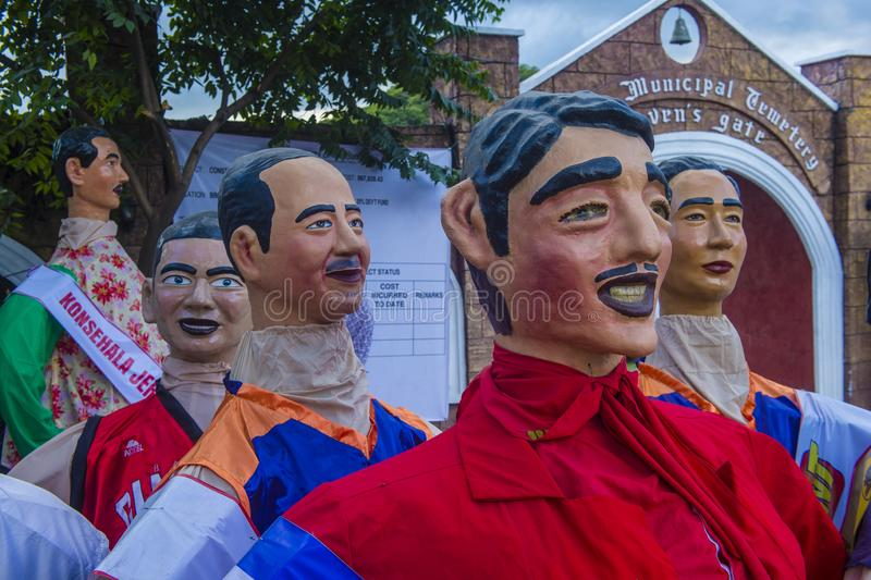 Higantes festival 2018. ANGONO , PHILIPPINES - NOV 22 : Higantes in the Higantes festival in Angono Philippines on November 22 2018. Higantes are giant paper royalty free stock photography