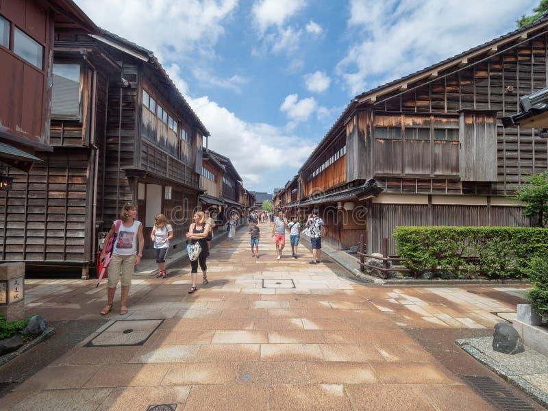 Higashi驱虫苋区,今池,日本 免版税库存图片