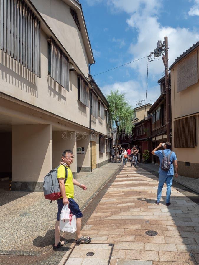 Higashi驱虫苋区,今池,日本 免版税图库摄影