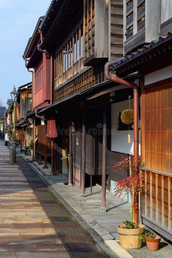 Higashi Chaya District em Kanazawa, Japão imagens de stock