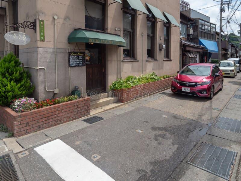 Higashi Chaya District, Kanazawa, Japan stock foto's
