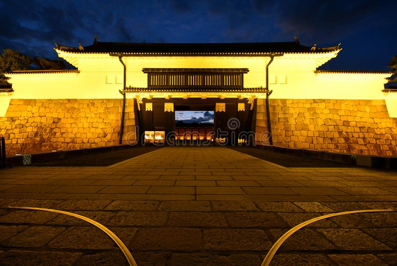 Higashi Otemon Main Entrance of Nijo Castle, Kyoto stock photography