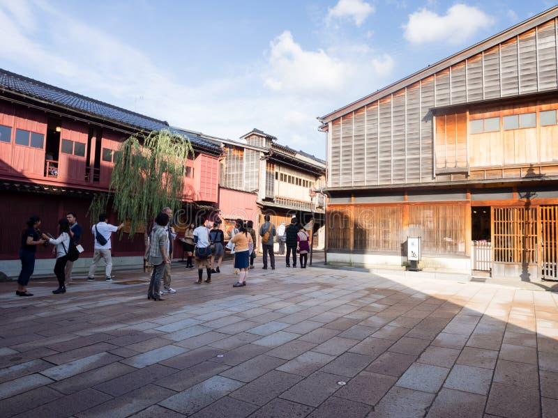 Higashichaya oud geishadistrict in Kanazawa royalty-vrije stock foto