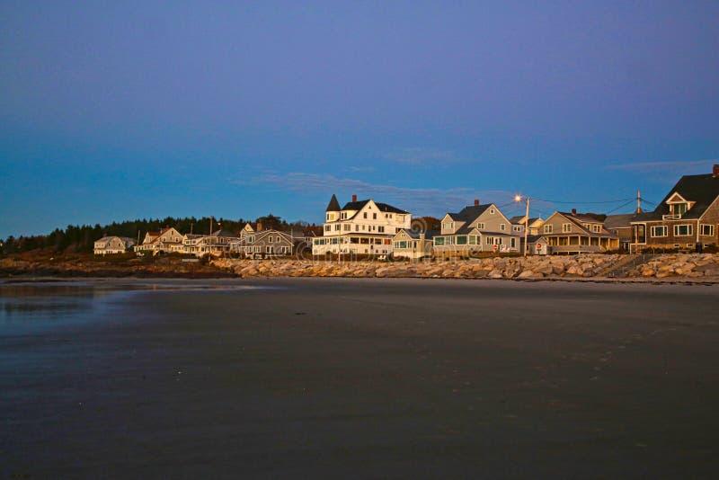 Higgins Beach Inn Coastline Scarborough Maine foto de archivo libre de regalías