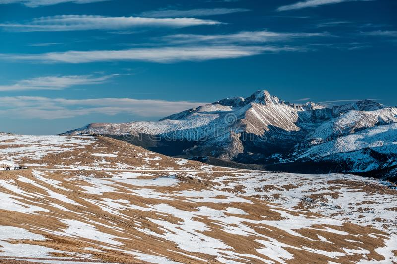 High alpine tundra landscape with mountains stock photos