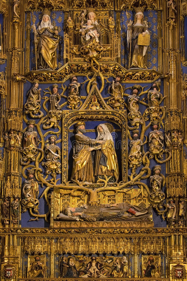Download High Altar - Burgos Cathedral - Spain Stock Image - Image: 26588195