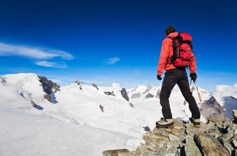 High Altitude Hiking stock photography