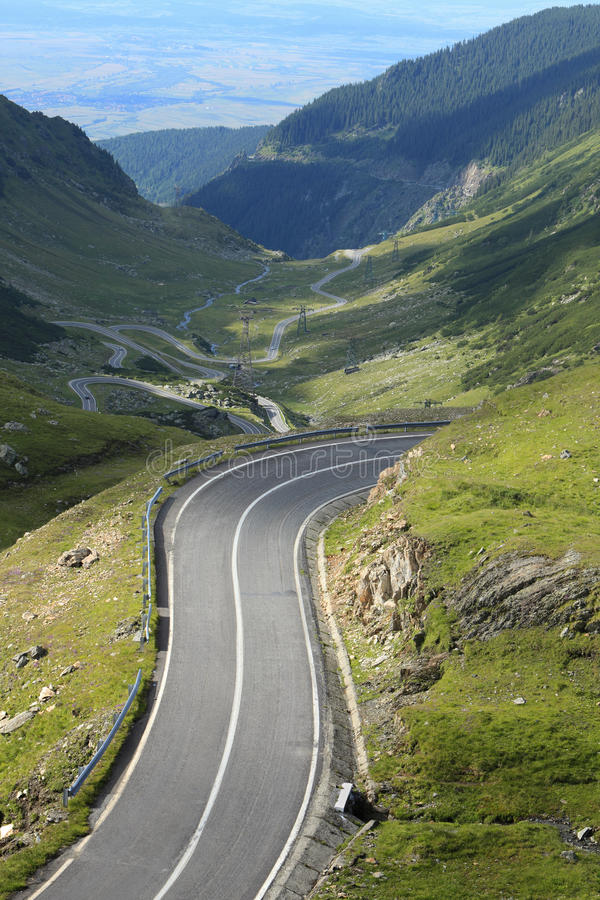 Download High altitude road stock image. Image of serpentine, dangerous - 11345807