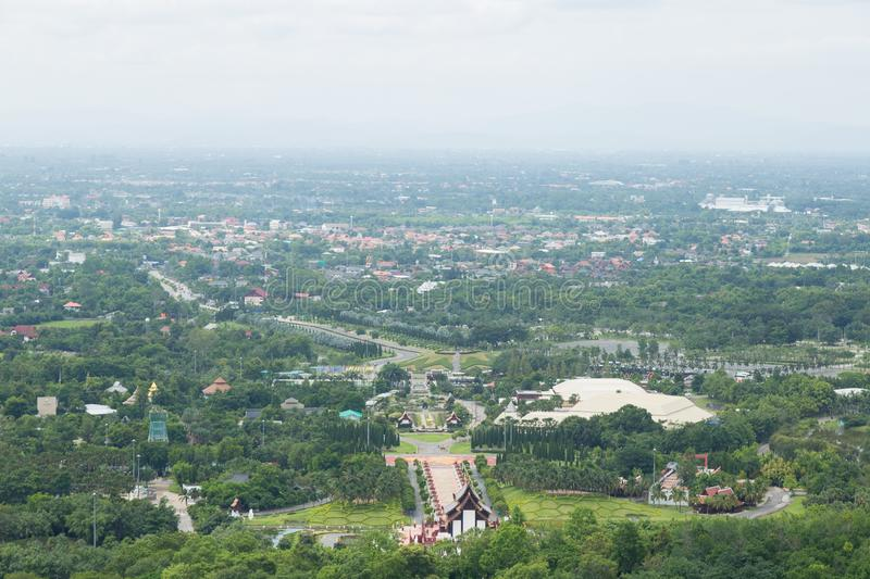 High angle of Chiang Mai royalty free stock photography