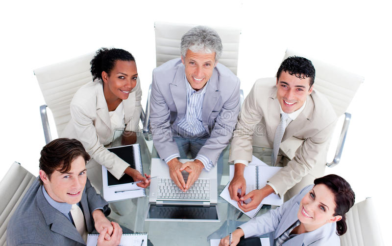 Download High Angle Of A Multi-ethnic Business Team Stock Photo - Image: 13153766