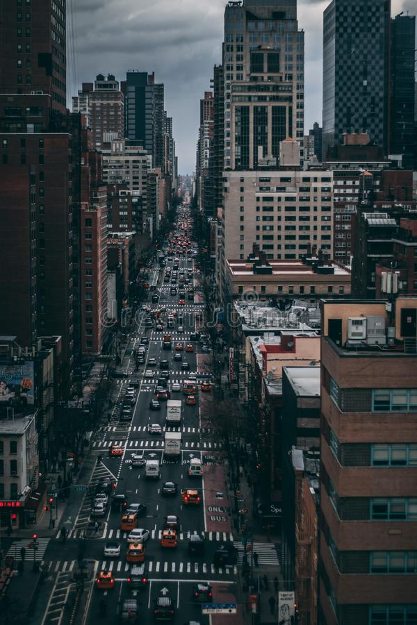 High Angle Photography of City Buildings royalty free stock photo