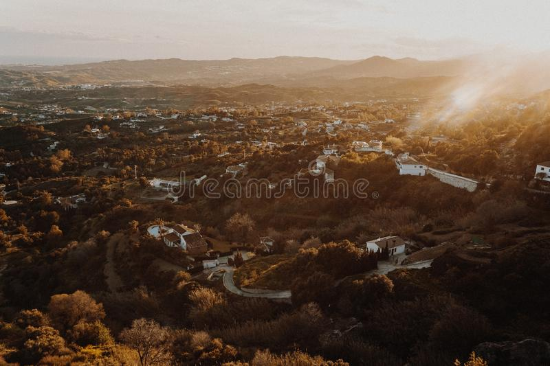 High-angle Photography of City Landscape royalty free stock photo