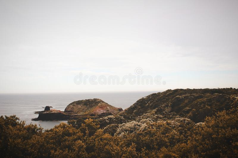 High-angle Photography of Island stock photo