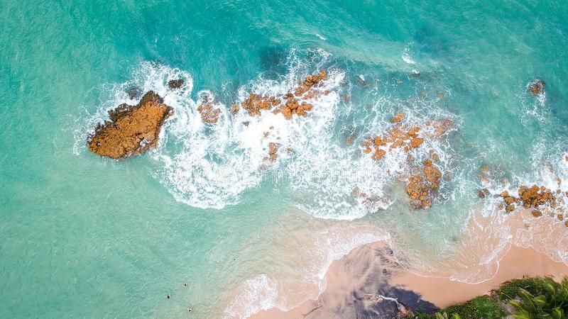 High Angle Photography of Ocean royalty free stock image