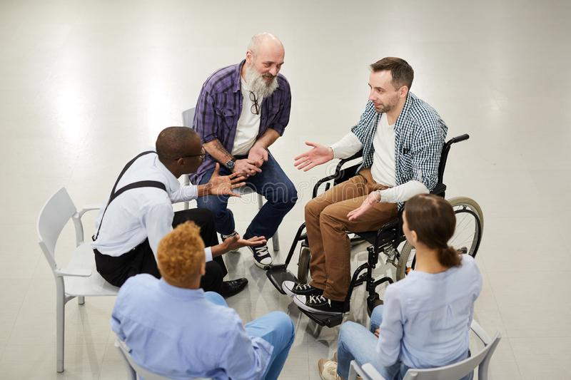 Support Group Circle royalty free stock image