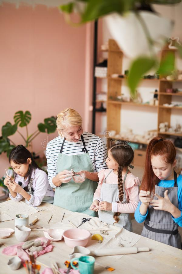 Pottery School for Kids royalty free stock image