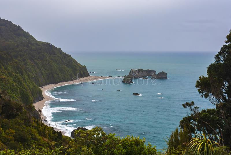 Knights Point. A high-angle view of Knights Point on the Haast Highway, West Coast, New Zealand. 14 November 2007 stock photos