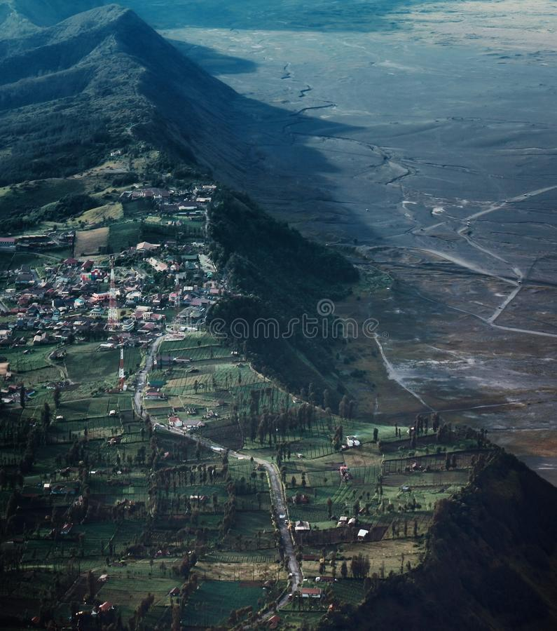 High angle view of Mountain range. This picture was taken in Mount Bromo Indonesia royalty free stock photos