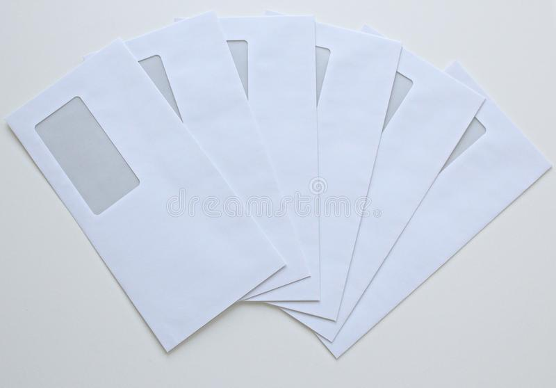 High Angle View of Paper Against White Background royalty free stock images