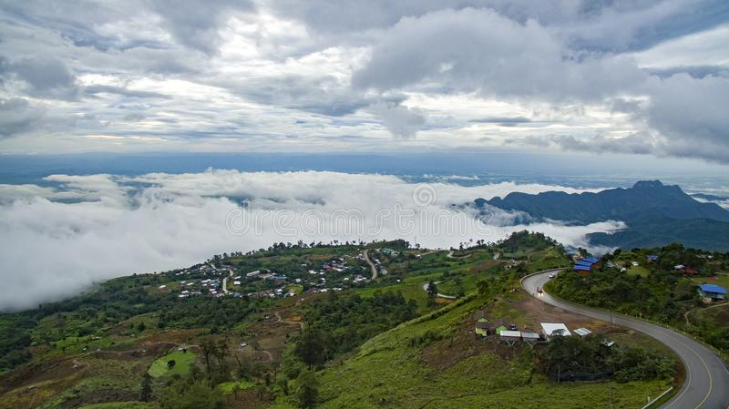 high angle view of phu tubberk most popular traveling destination in petchabun province north eastern of thailand stock photos