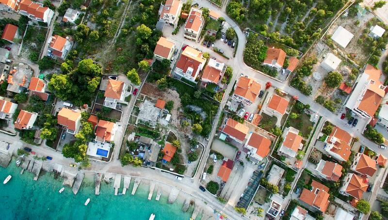 High Angle View of Residential Buildings royalty free stock images