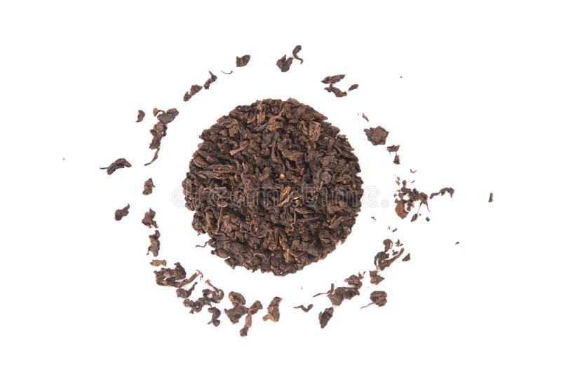 High angle view of roasted Tieguanyin, variety of Oolong tea royalty free stock photo